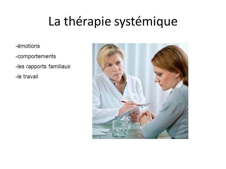 La thérapie systémique -émotions -comportements -les rapports familiaux -le travail