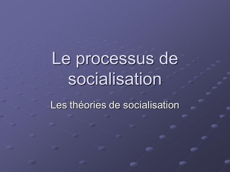 Le processus de socialisation Les théories de socialisation