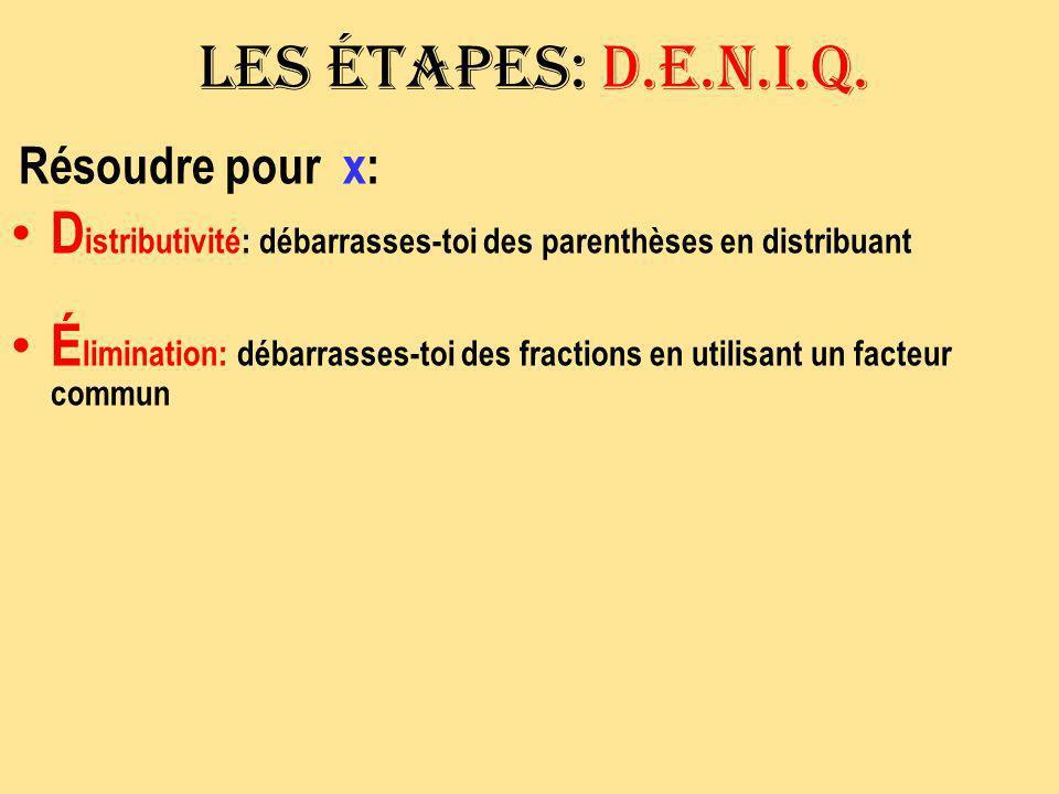 Exemple # 2 3x + 2 (x + 5) = 2x + 4 3x + 2x + 10 = 2x + 4 3x = -6 3 3 5x + 10 = 2x + 4