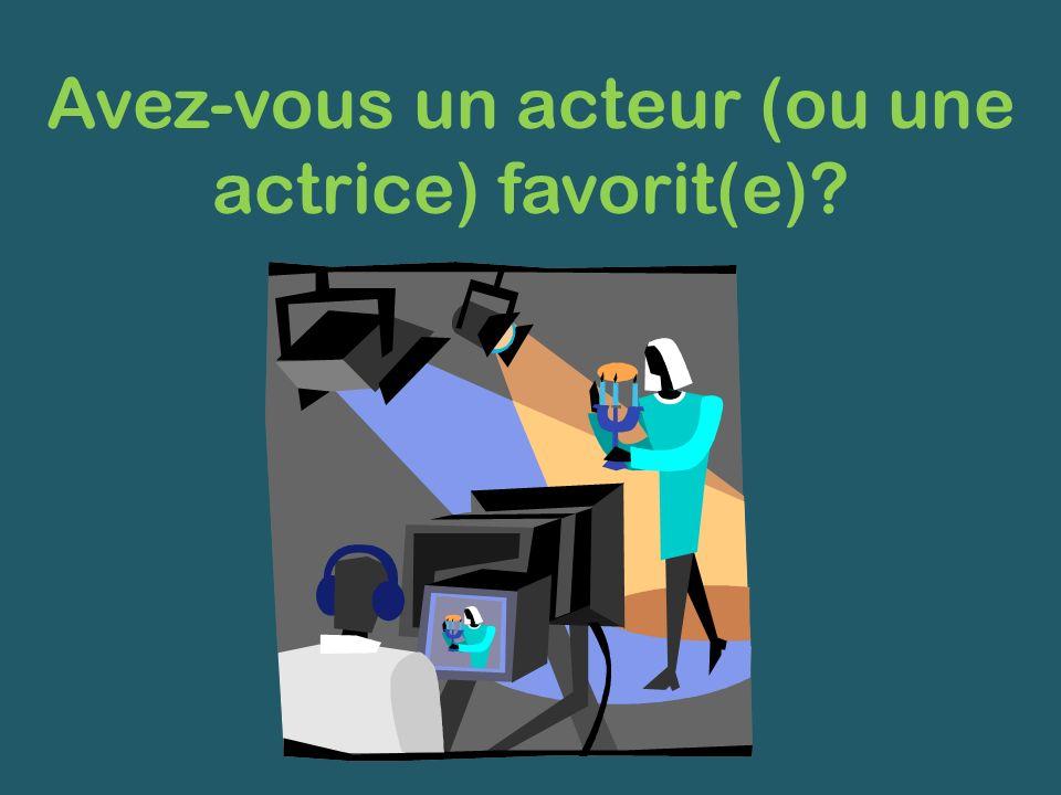 Avez-vous un acteur (ou une actrice) favorit(e)?