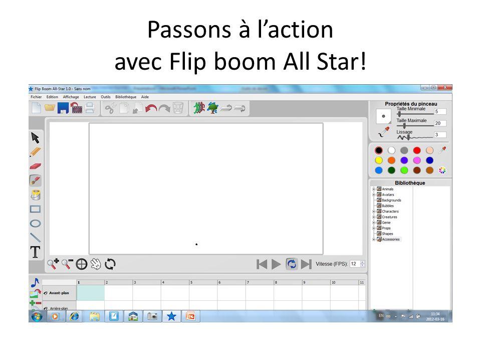 Passons à laction avec Flip boom All Star!