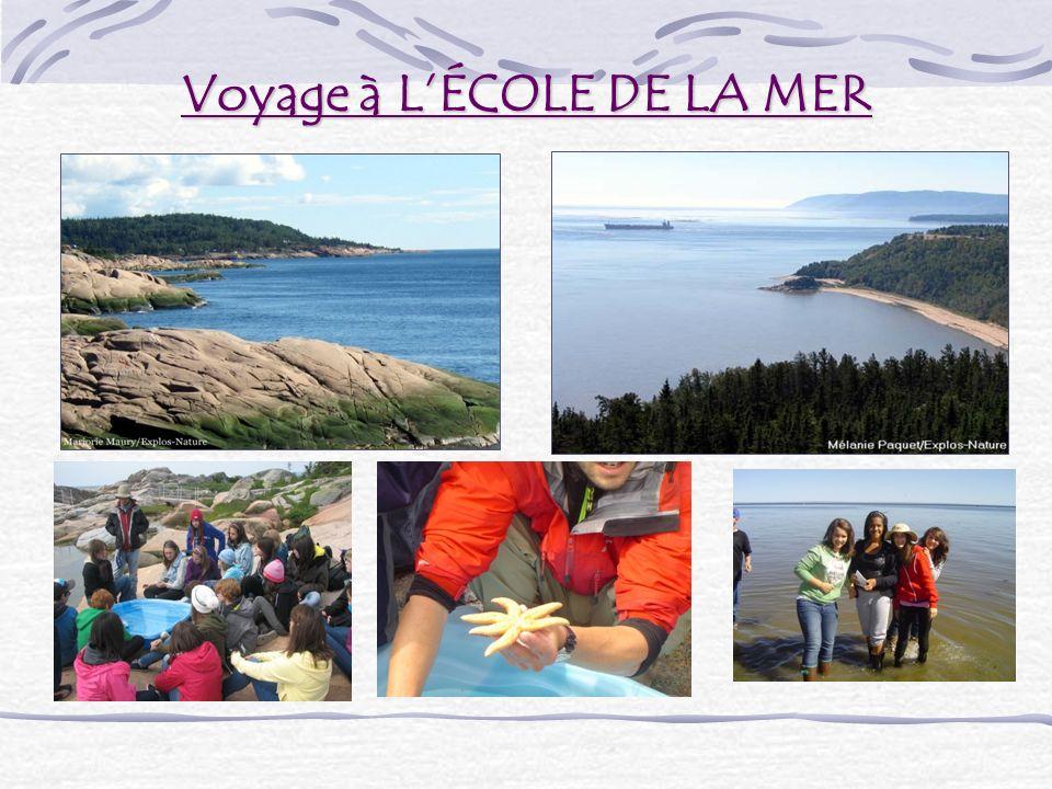 Voyage à LÉCOLE DE LA MER