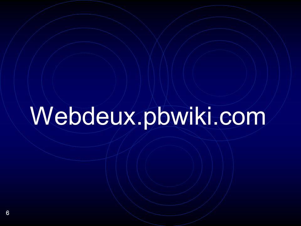 27 OUVERTURE : quelques exemples Exportation du flux RSS >> DEMO NETVIBES importation dune vidéo sur le wiki >> DEMO Mise à jour des données en continu > DEMO