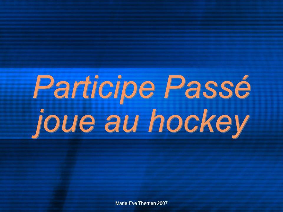 Marie-Eve Therrien 2007 Tout a commencé lhiver passé, lorsquelles jouaient au hockey, sur la rivière gelée.