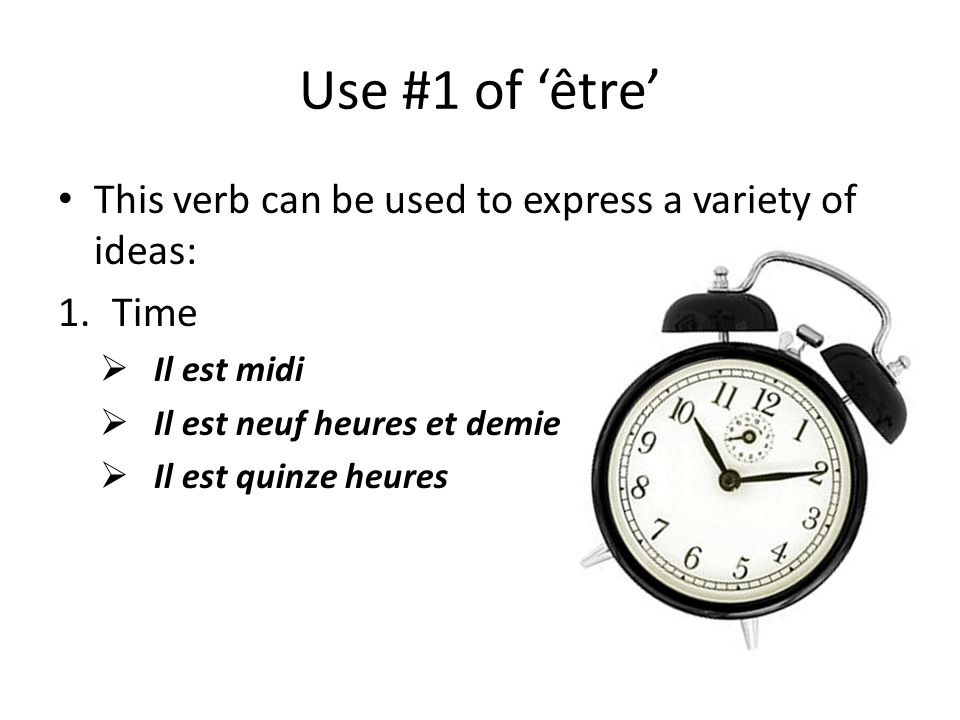 Wrap up Fill in the sentences below with either ÊTRE or FAIRE: 1.