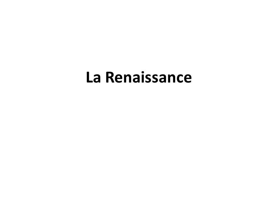 Le terme Renaissance s applique à la période de l histoire de l Europe occidentale qui s étend du début du XIVe siècle à la fin du XVIe siècle un intérêt renouvelé pour les arts et la culture de l Antiquité