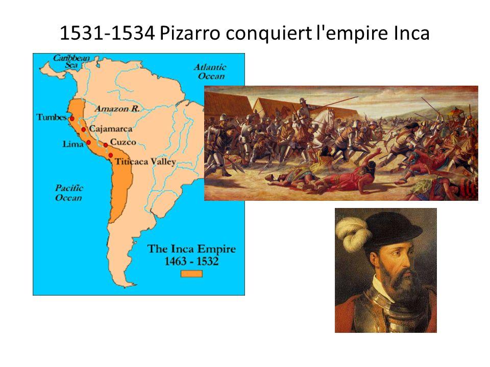 1531-1534 Pizarro conquiert l'empire Inca