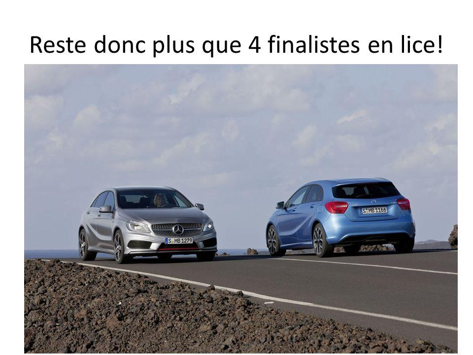 Reste donc plus que 4 finalistes en lice!