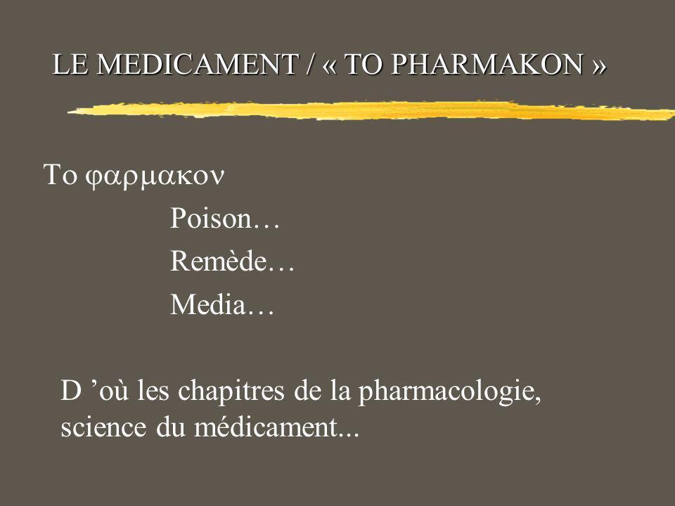 INTRODUCTION A LA PHARMACOLOGIE Professeur Toumi H Faculté de Médecine dOran Département de pharmacie