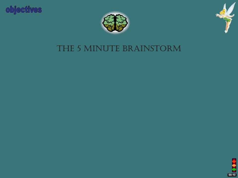 The 5 minute brainstorm 00:10