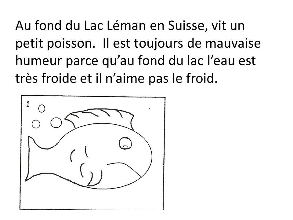 Au fond du Lac Léman en Suisse, vit un petit poisson. Il est toujours de mauvaise humeur parce quau fond du lac leau est très froide et il naime pas l