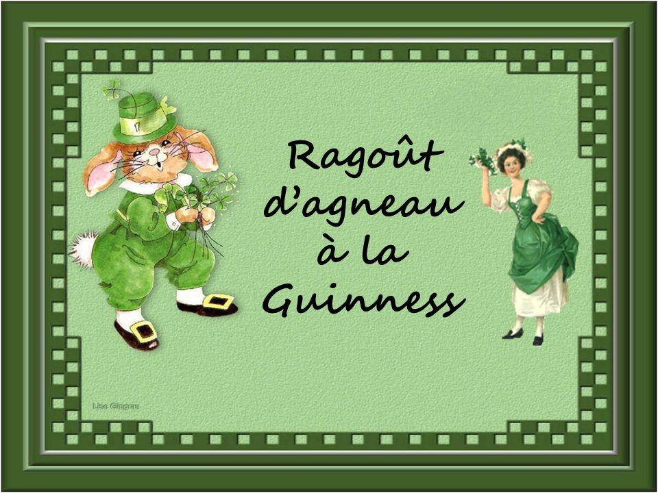 Ragoût dagneau à la Guinness