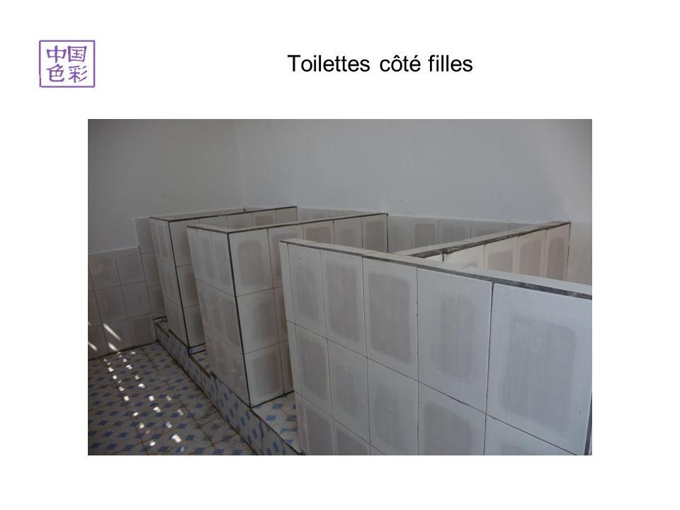 Toilettes côté filles