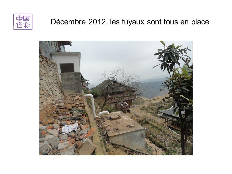 Décembre 2012, les tuyaux sont tous en place
