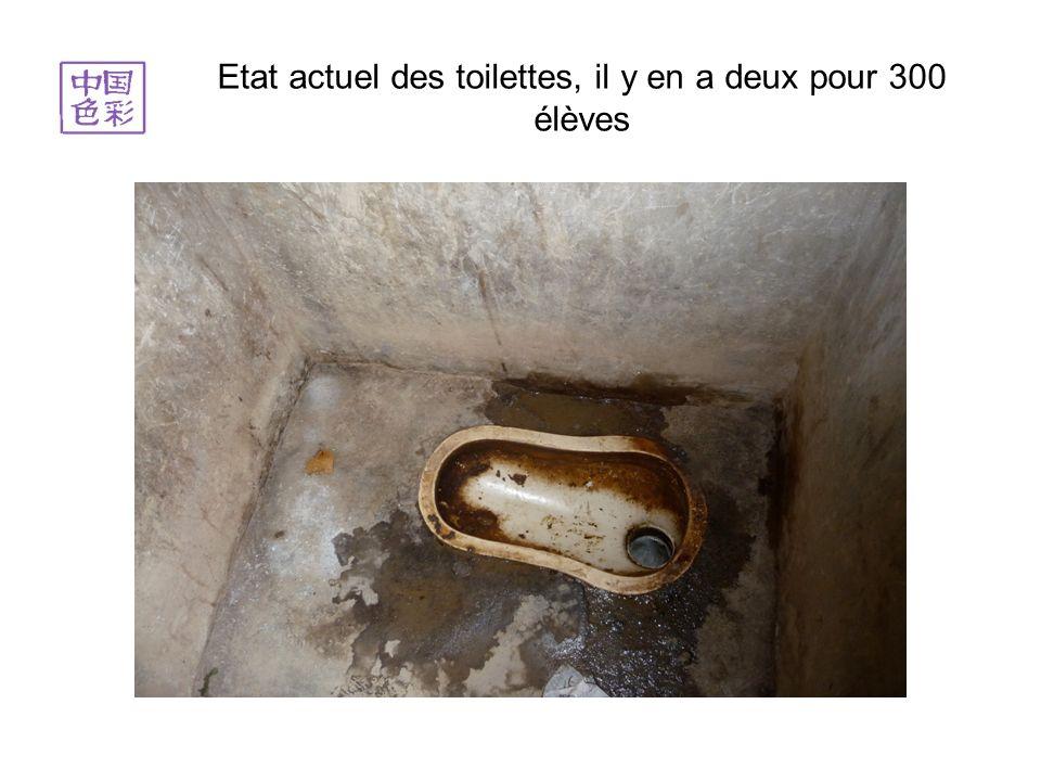 Etat actuel des toilettes, il y en a deux pour 300 élèves