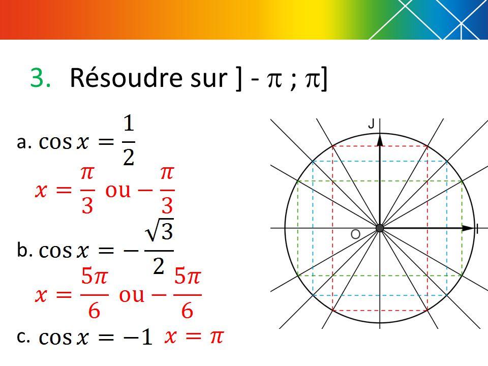 3.Résoudre sur ] - ; ] a. b. c.