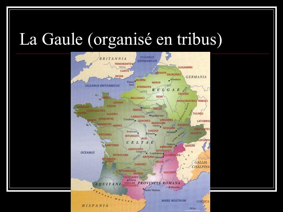 La Gaule (organisé en tribus)