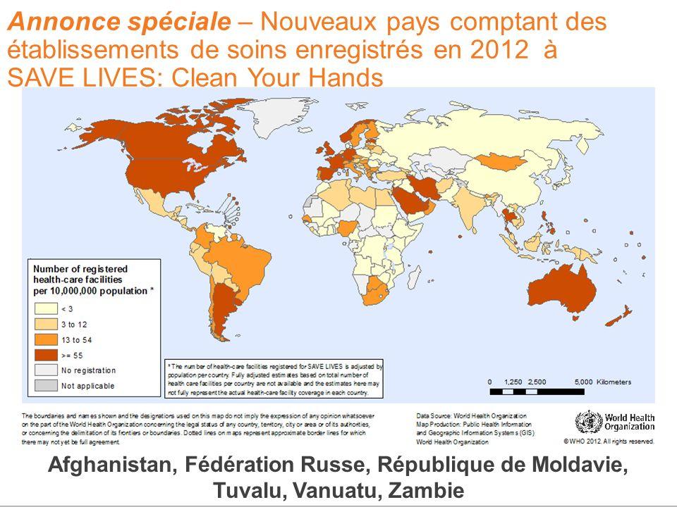 Special announcement – 5 new countries with registrations for SAVE LIVES: Clean Your Hands in 2012 Afghanistan, Fédération Russe, République de Moldav