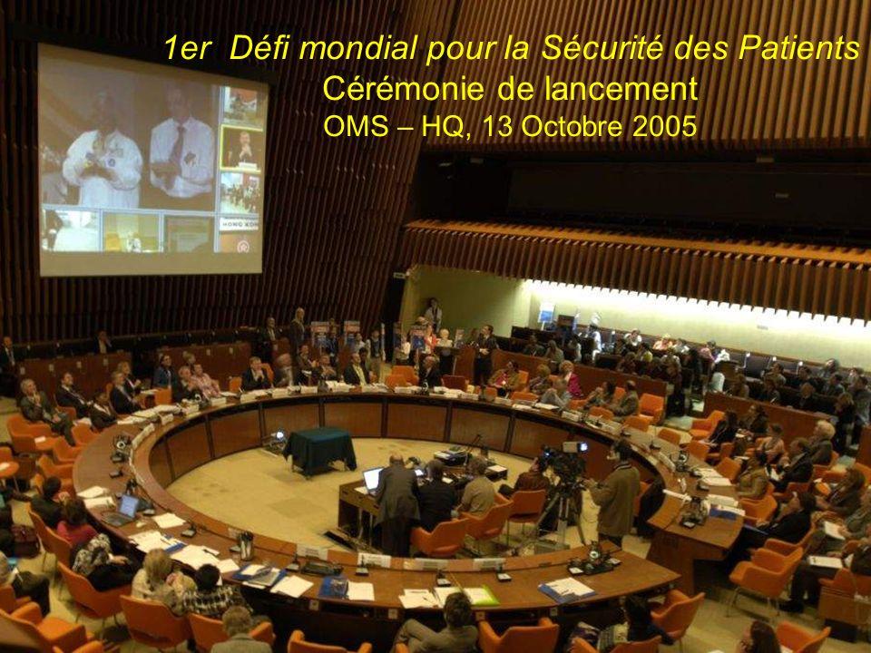 Countries committed to addressing HAI Countries committed in 2005-2006 Countries planning to commit in 2006 1er Défi mondial pour la Sécurité des Pati
