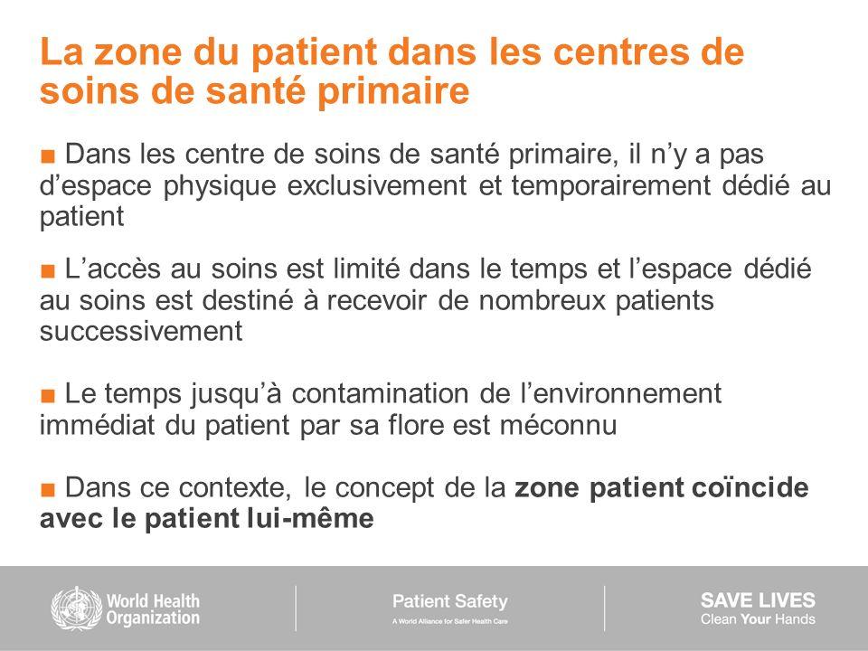 La zone du patient dans les centres de soins de santé primaire Dans les centre de soins de santé primaire, il ny a pas despace physique exclusivement