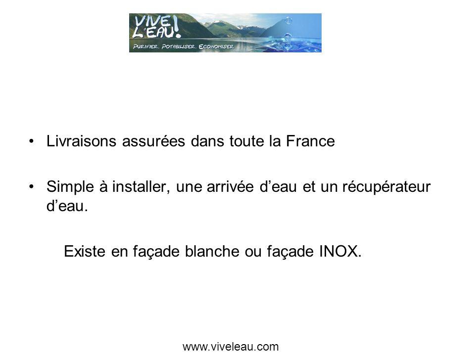 Livraisons assurées dans toute la France Simple à installer, une arrivée deau et un récupérateur deau.