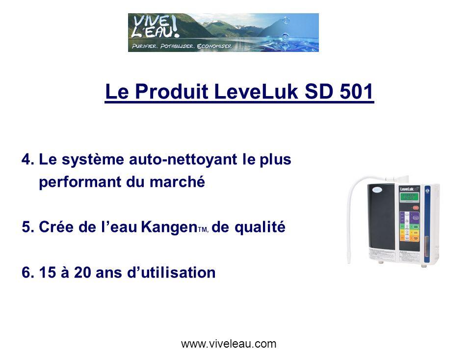 Le Produit LeveLuk SD 501 4. Le système auto-nettoyant le plus performant du marché 5.