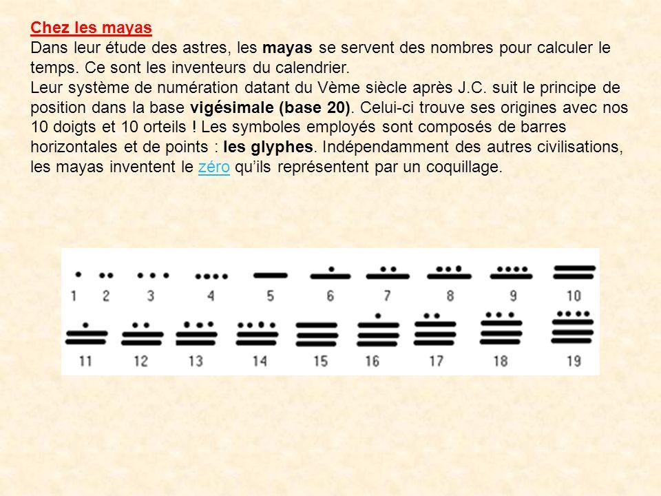 Les chinois du IIème siècle avant J.C. disposent dun autre type de numération dit « numération savante ». Ce système suit le principe additif dans la