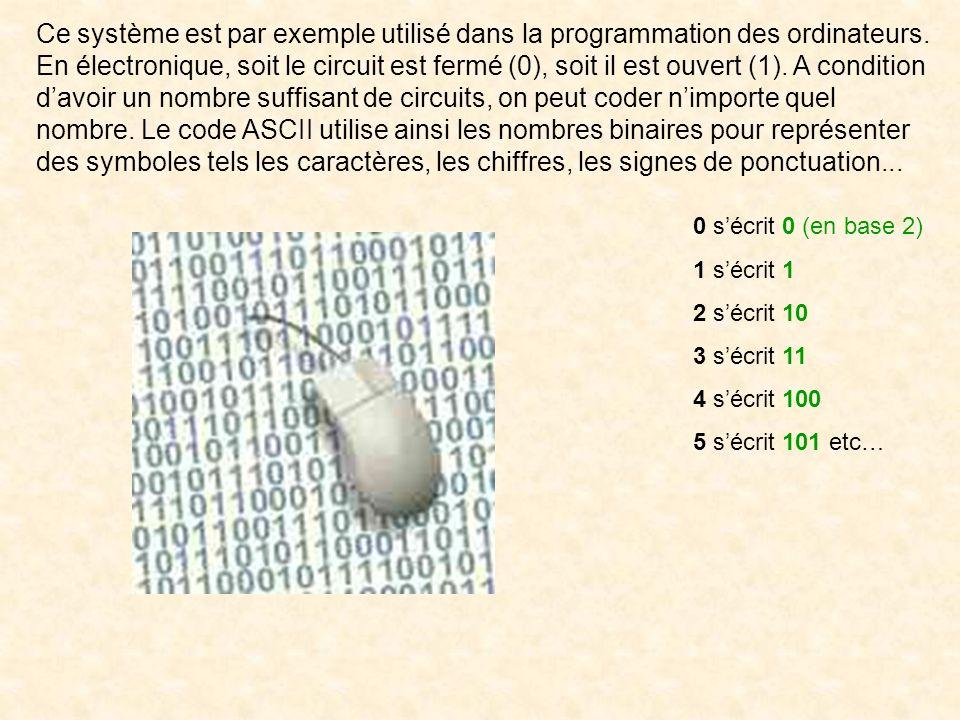 L'écriture décimale demande 10 symboles (0, 1, 2, 3, 4, 5, 6, 7, 8, 9). Nos 10 doigts en sont incontestablement à lorigine. Que serait aujourdhui notr