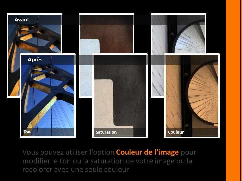 Loption Corrections vous permet de modifier le contraste, la luminosité et la netteté de vos images.