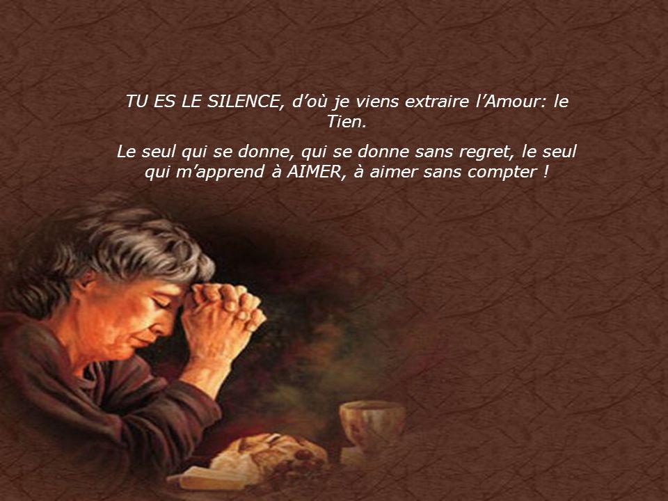 Tu es LE SILENCE dans lequel je me plonge chaque jour, pour apprendre Tes paroles, me nourrir de Ta Sagesse, pour donner encore et toujours… à ceux qu