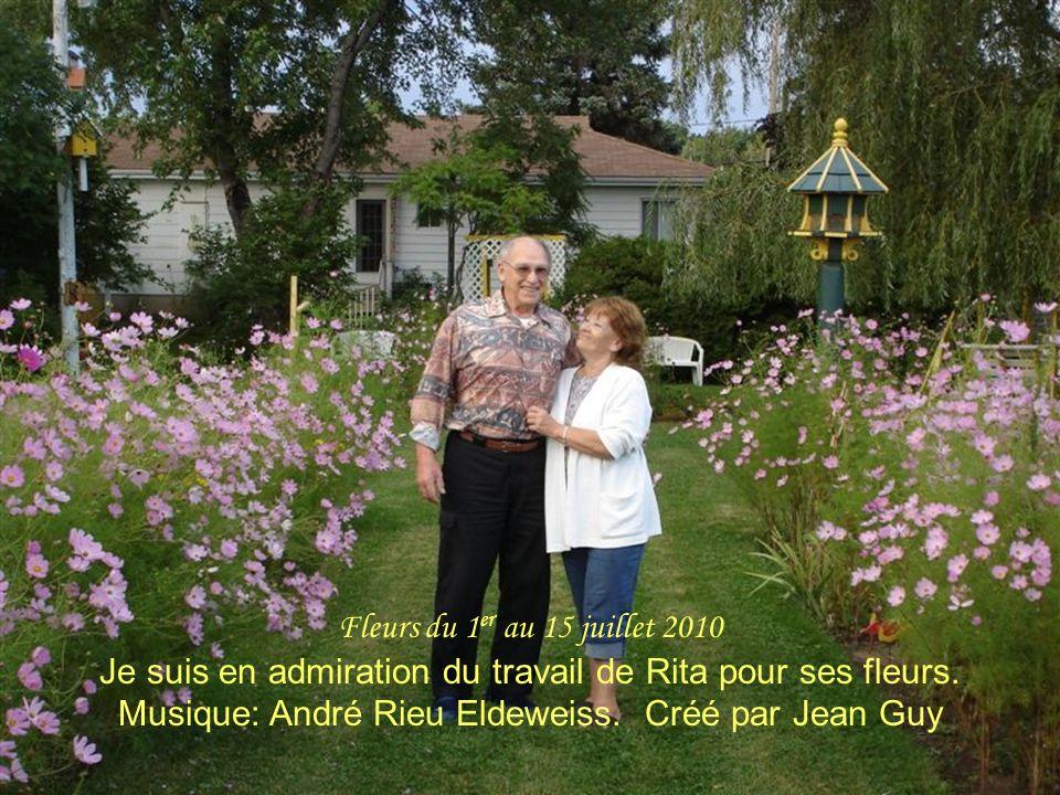 Fleurs du 1 er au 15 juillet 2010 Je suis en admiration du travail de Rita pour ses fleurs.
