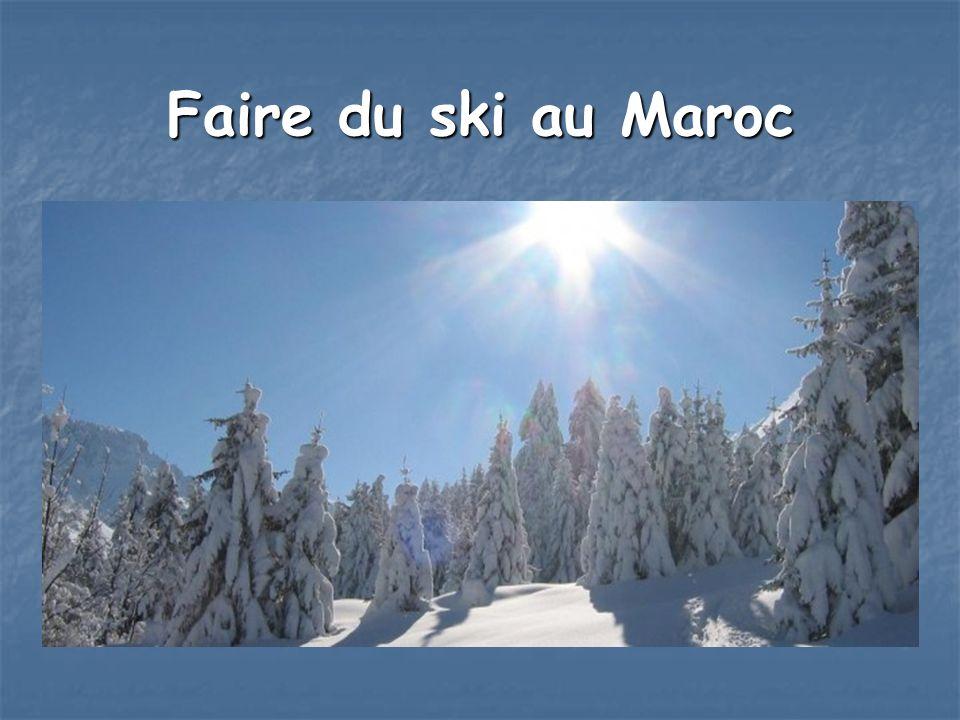 Faire du ski au Maroc