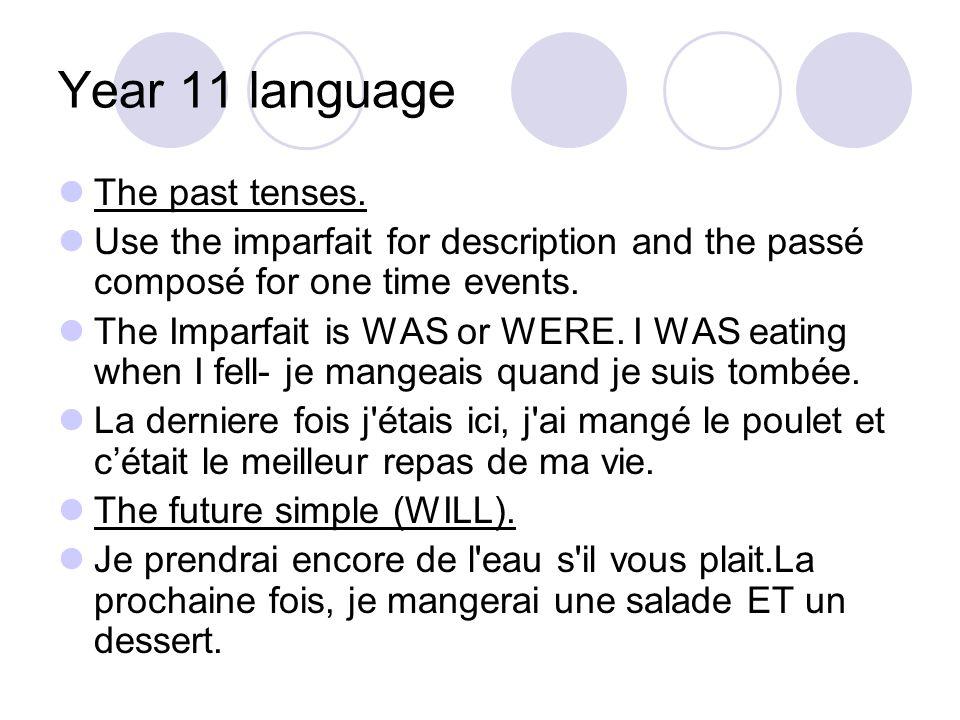 Year 11 language Negatives.Je ne mange que de legumes.