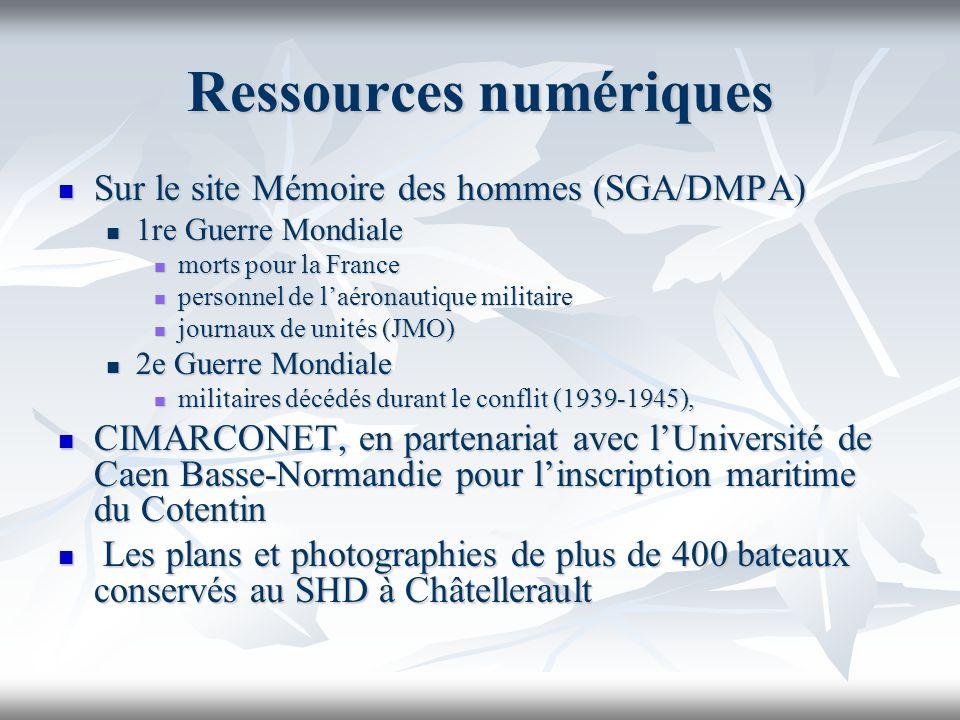 Ressources numériques Sur le site Mémoire des hommes (SGA/DMPA) Sur le site Mémoire des hommes (SGA/DMPA) 1re Guerre Mondiale 1re Guerre Mondiale mort