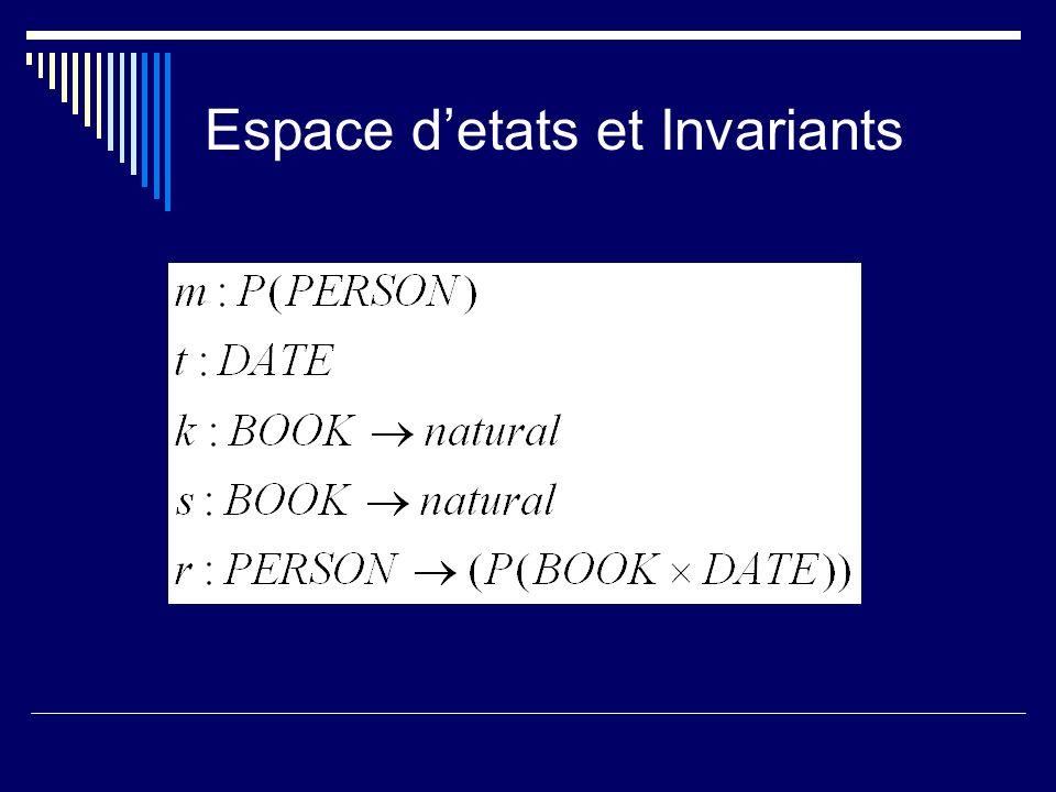 Espace detats et Invariants