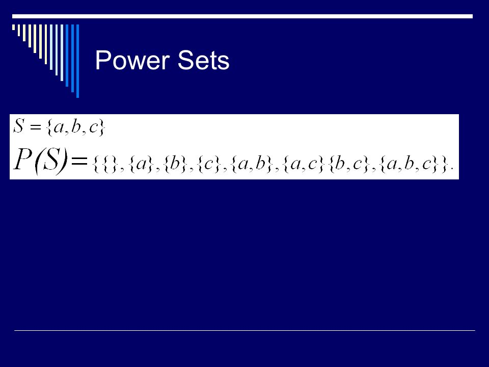 Power Sets