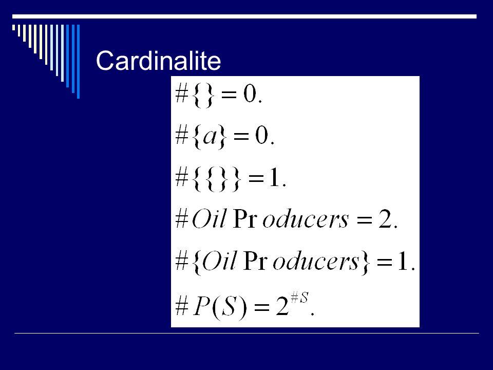 Cardinalite