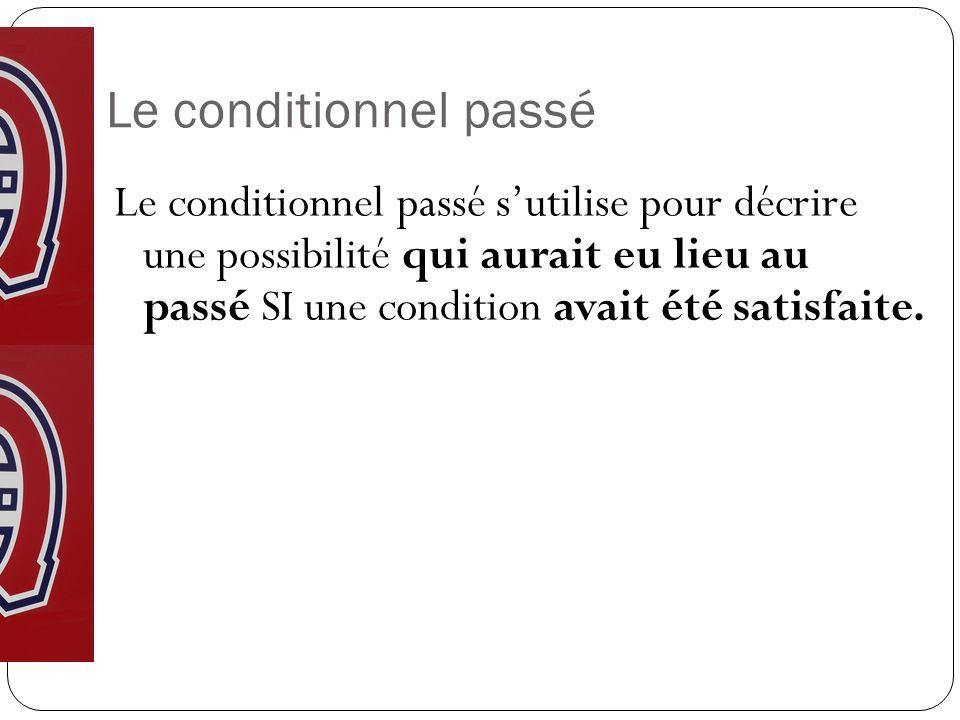 Revue du conditionnel et les phrases avec SI RAPPEL: SI + IMPARFAIT + CONDITIONNEL PRÉS pour exprimer une possibilité.