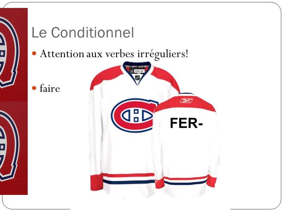 Le Conditionnel Attention aux verbes irréguliers! faire FER-