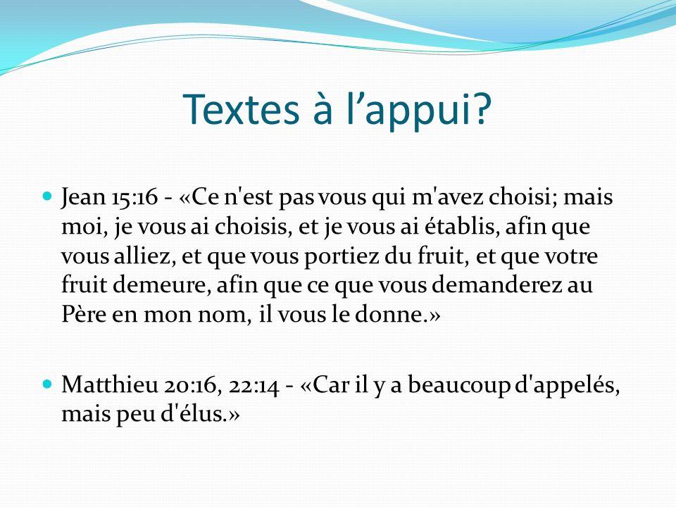 Textes à lappui.