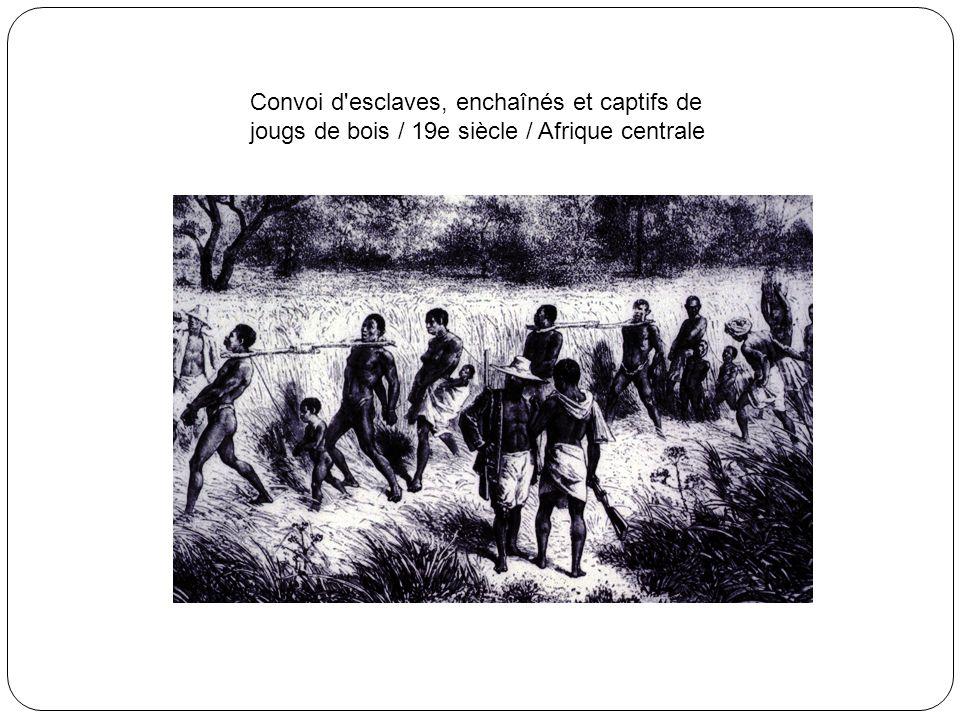 Esclaves en fond de calle d'un navire négrier / 1827