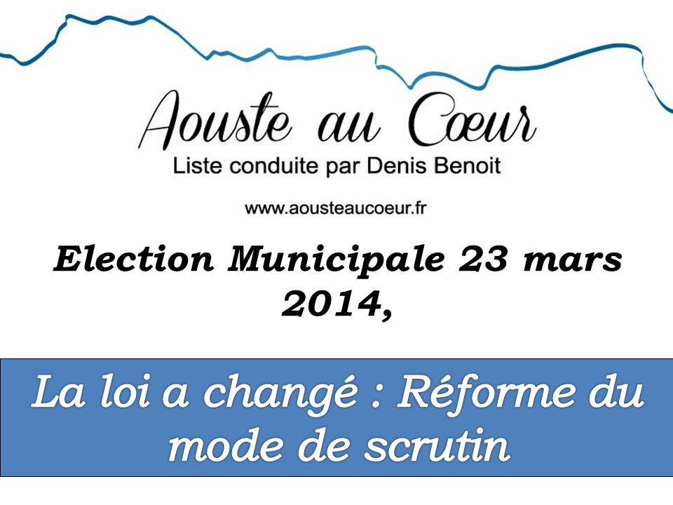 Election Municipale 23 mars 2014,
