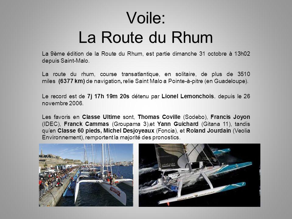 Voile: La Route du Rhum La 9ème édition de la Route du Rhum, est partie dimanche 31 octobre à 13h02 depuis Saint-Malo.