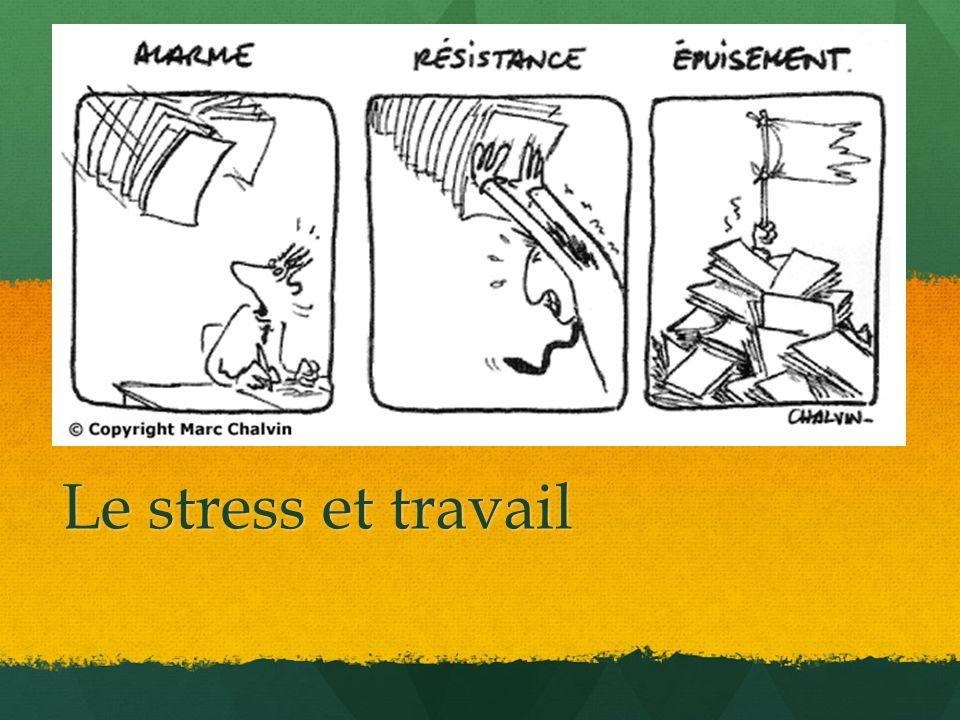 Qu est-ce qui peut être fait pour réduire les sources de stress dans une entreprise.