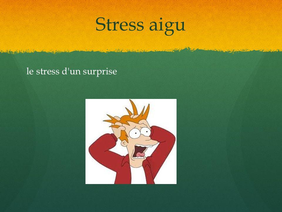Stress aigu le stress d'un surprise
