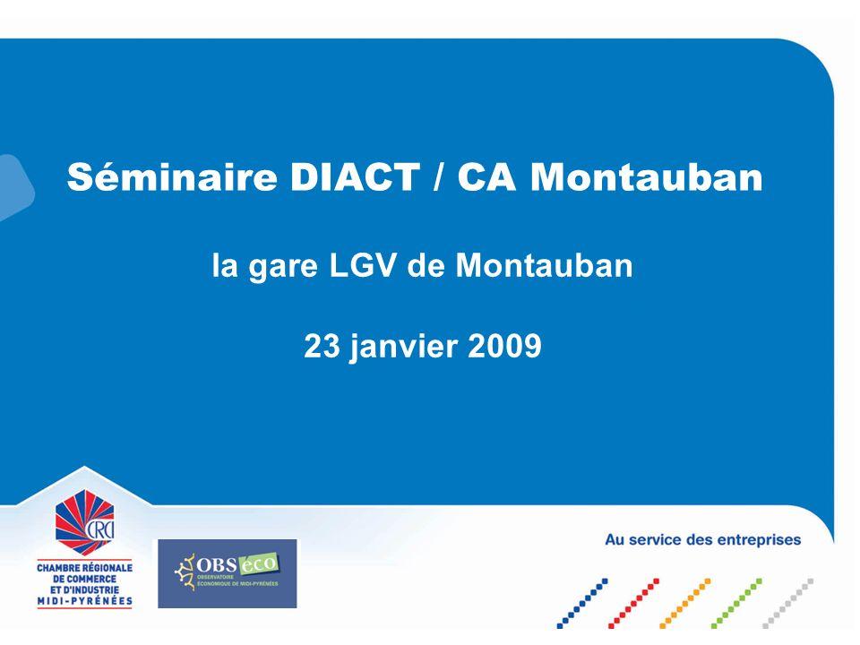 Séminaire DIACT / CA Montauban la gare LGV de Montauban 23 janvier 2009