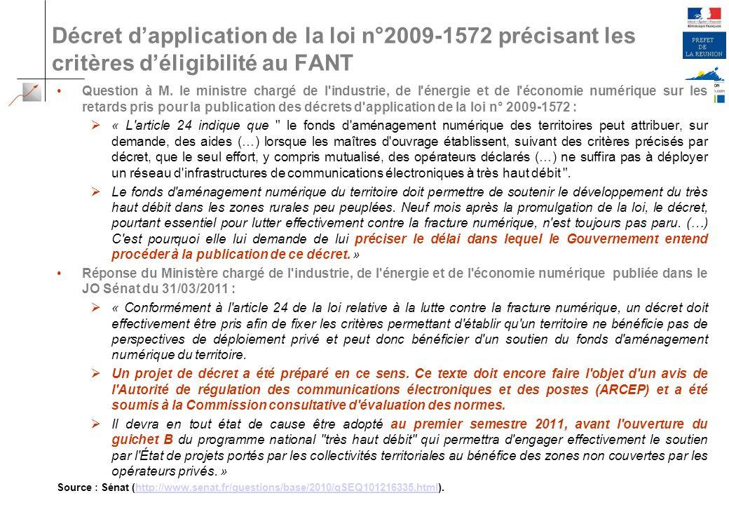 /21 Décret dapplication de la loi n°2009-1572 précisant les critères déligibilité au FANT 24 2010-60-AF-Préfecture Réunion Question à M. le ministre c