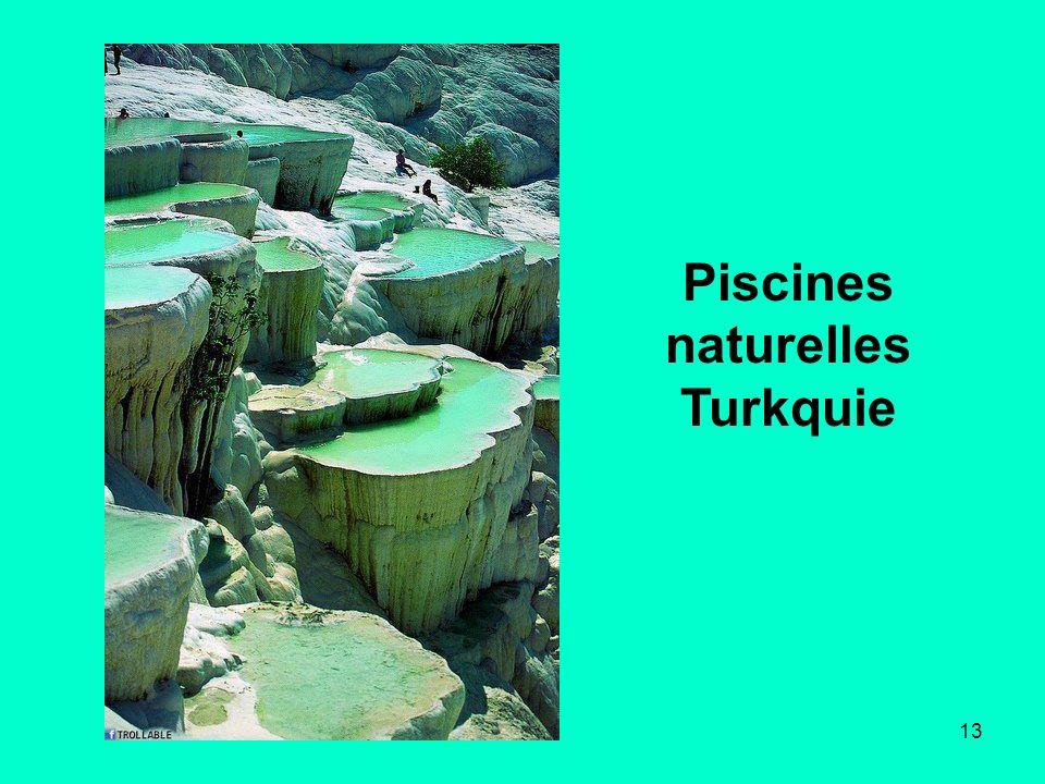 13 Piscines naturelles Turkquie