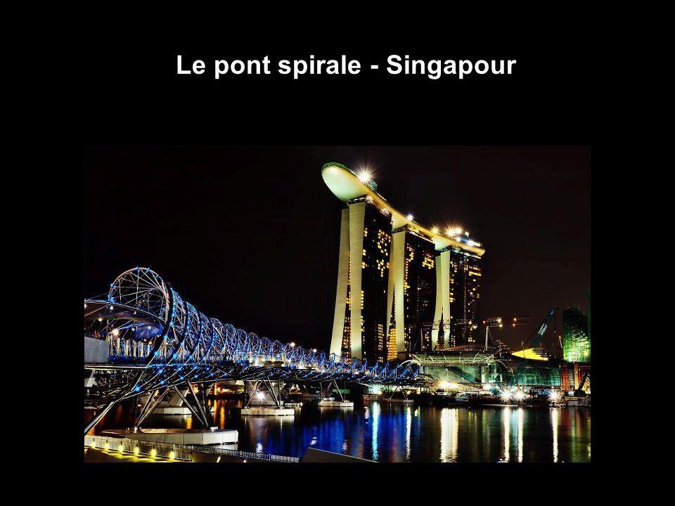 16 Le pont spirale - Singapour