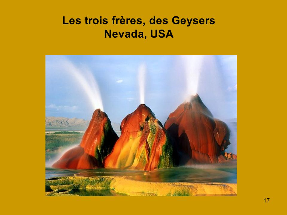 17 Les trois frères, des Geysers Nevada, USA